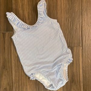 Seersucker swimsuit. Old Navy 12-18m